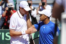 John Isner (USA) and Jo-Wilfried Tsonga (FRA)