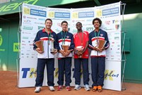 Winning USA boys team at 2012 World Junior Tennis Finals