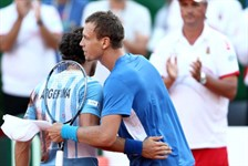 Juan Monaco (ARG) and Thomas Berdych (CZE)