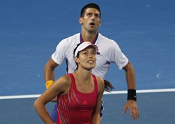 Novak Djokovic and Ana Ivanovic (SRB)