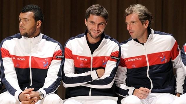 Tsonga-Simon-Benneteau sorteo Davis Cup '13