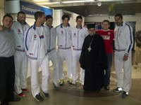 The Serbian team with the very Rev. Archimandrite NekTarios (Serfes)
