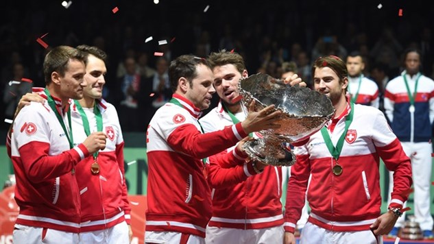 Federer hands Switzerland first Davis Cup title