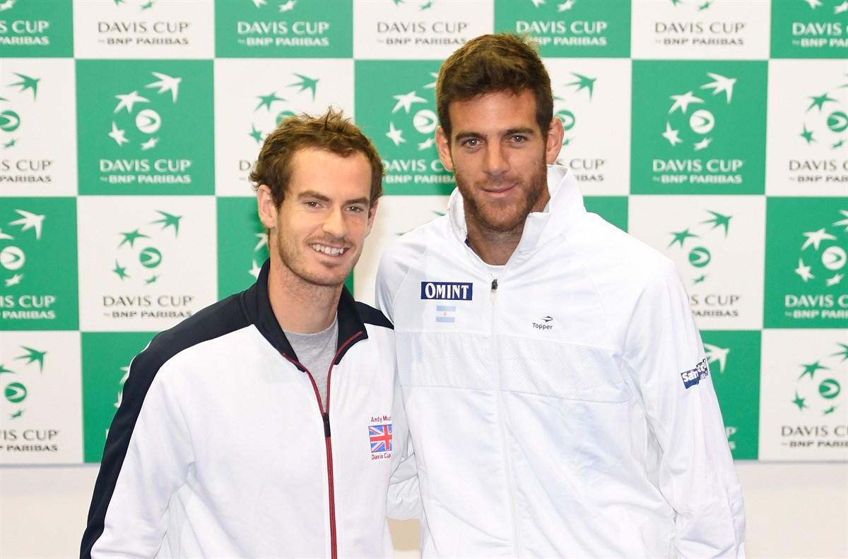 Andy Murray a Juan Martín Del Potro; © www.daviscup.com